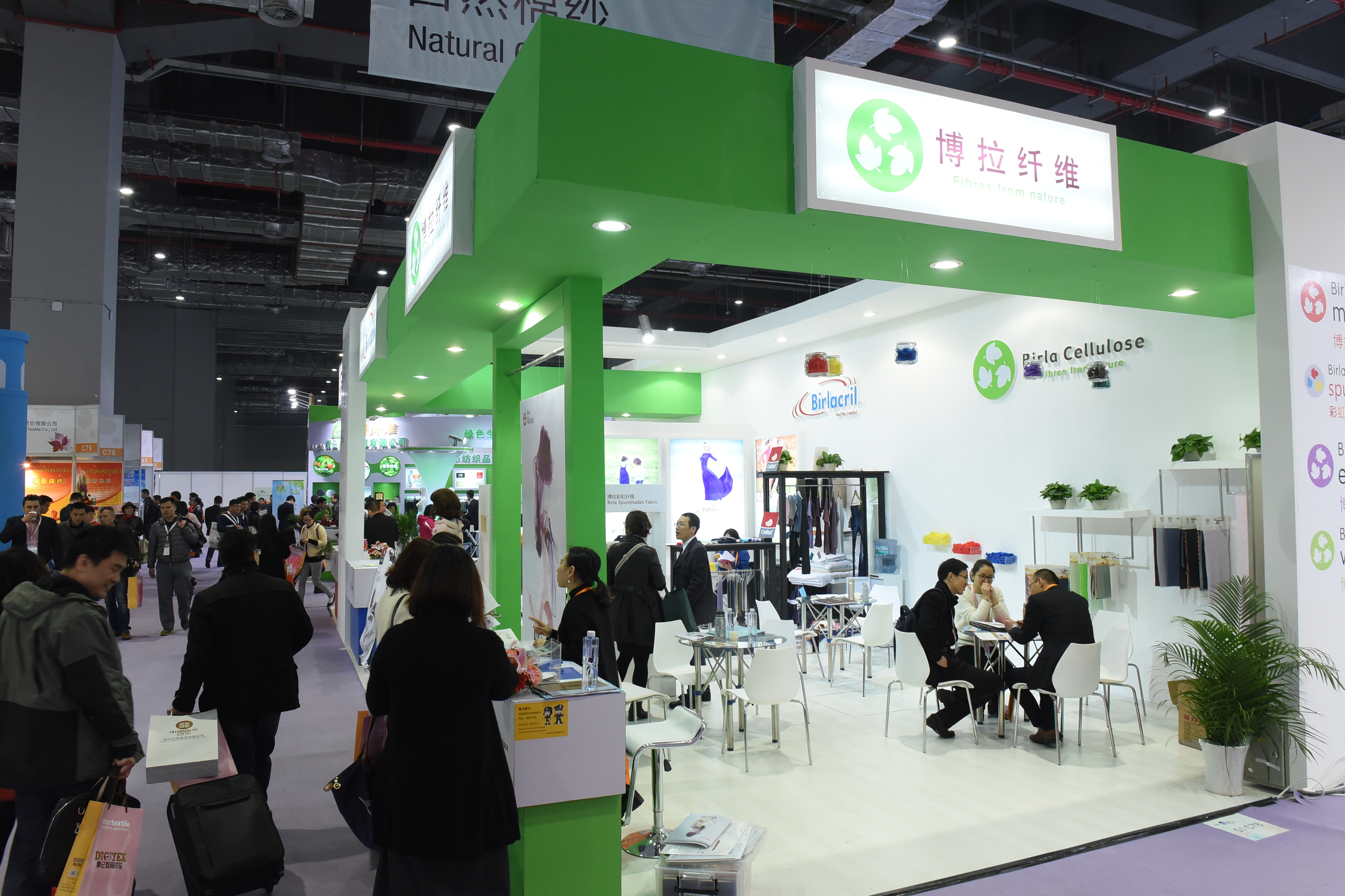 Yarn Expo, Shanghai, Ferias de hilados, Hilados, Birla