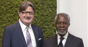 comité de ética y desarrollo sostenible, Secretario General de las Naciones Unidas, Premio Nobel de la Paz, Doctor Kofi Annan, Mario Moretti Polegato, Geox,