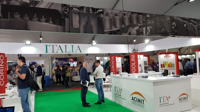 Techtextil, Texprocess, Acimit, maquinaria textil italiana, Feria de Frankfurt, ITA, textiles técnicosMaquinaria textil italiana en Techtextil, el salón de los textiles técnicos