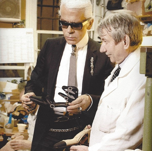 fabricante de botas, botas, karl Lagerfeld, Chanel, Maison Massaro , Raymond Massaro,