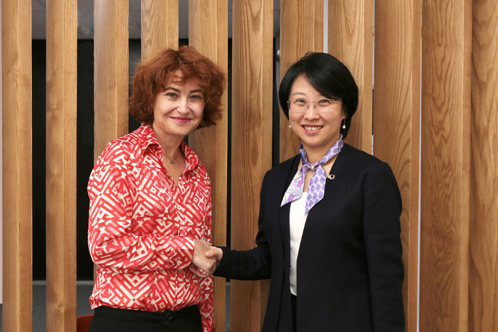 María Peña Mateos y Angel Zhao
