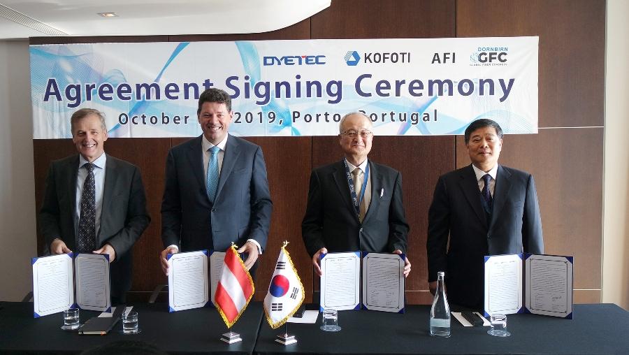 GFC, Congreso Fibras Dornbirn, Daegu, Kofoti, Dyetec, Instituto Austriaco de Fibras, AEI, JEC World