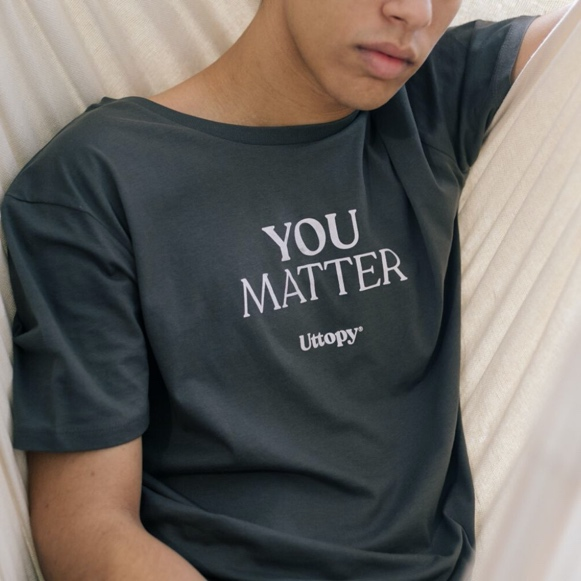 Uttopy, colección Matter, camisetas con mensaje, Inés Echevarría